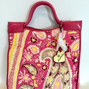Juicy Couture Felted Terry Cloth Paisley Tote